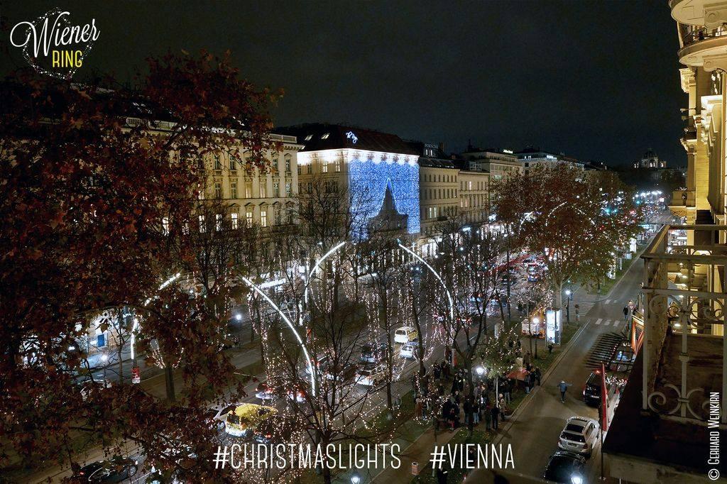 Weihnachtsbeleuchtung am Wiener Ring