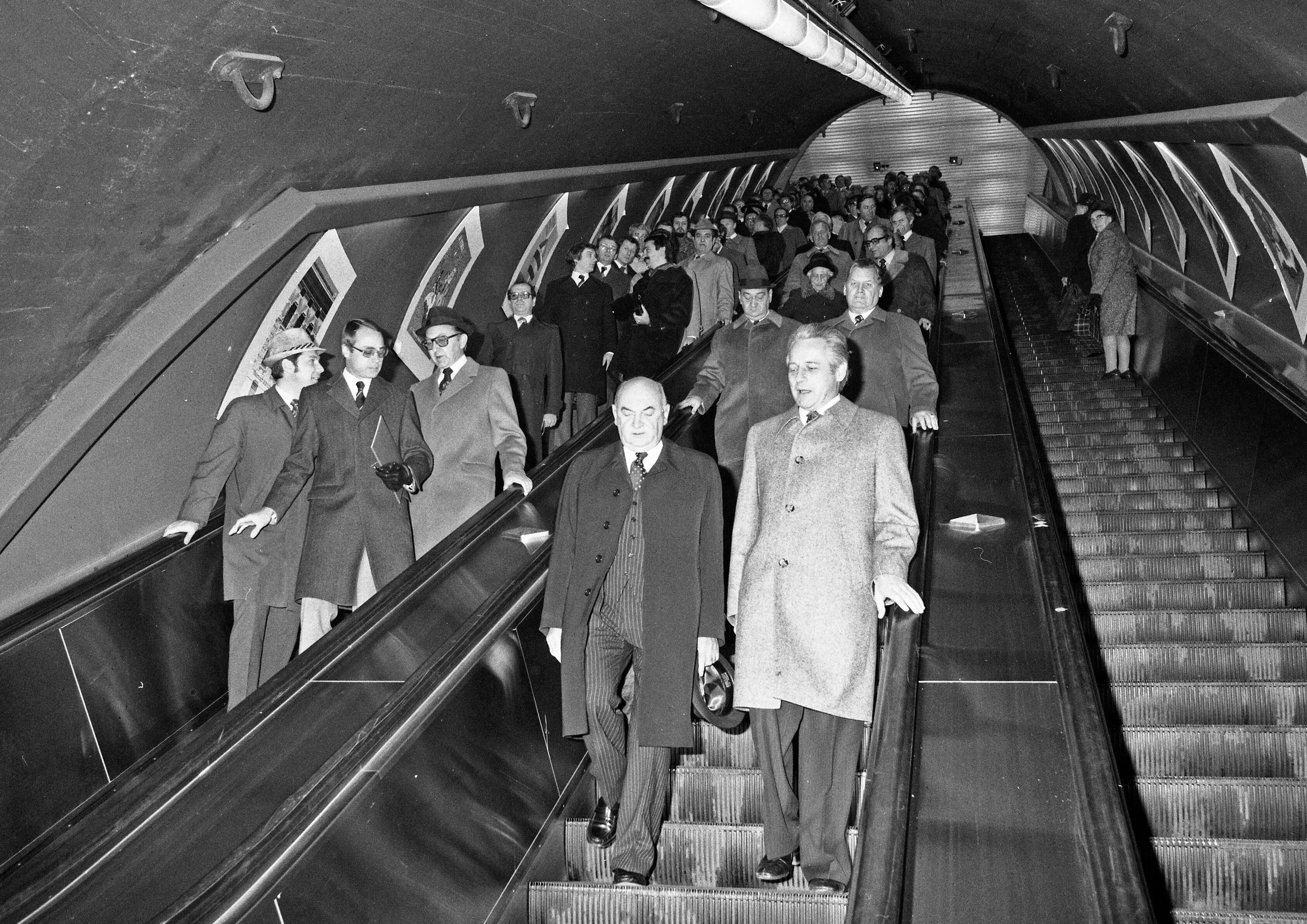 U1 Stationseröffnung  mit Bürgermeister Gratz und hr Anton Benya im November 1978